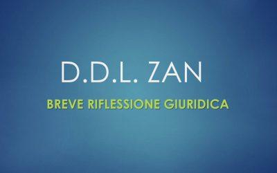 D.D.L. ZAN. Breve riflessione giuridica